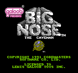 Big Nose the Caveman (Camerica)-galoobtitle.png
